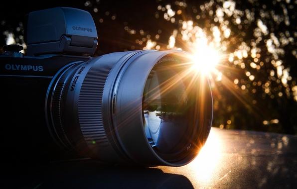 Картинка фотоаппарат, объектив, Olympus, Олимпус