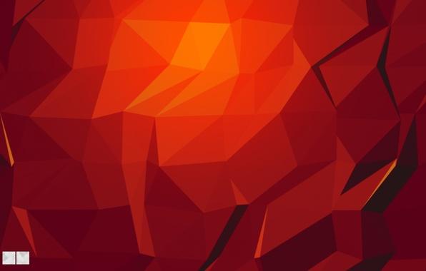 Картинка Красный, Red, Абстракция, Текстура, Градиент, Texture, Tringles, Фактура, DU DESIGN, Треугольники