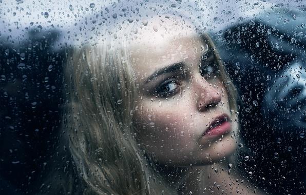 Картинка стекло, девушка, капли, Michael Farber, Broken Over You