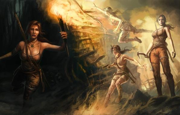 Картинка девушка, арт, Tomb Raider, Лара Крофт, Lara Croft