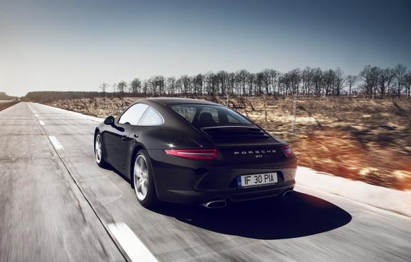 Картинка дорога, машина, авто, скорость, 911, Porche, GT3