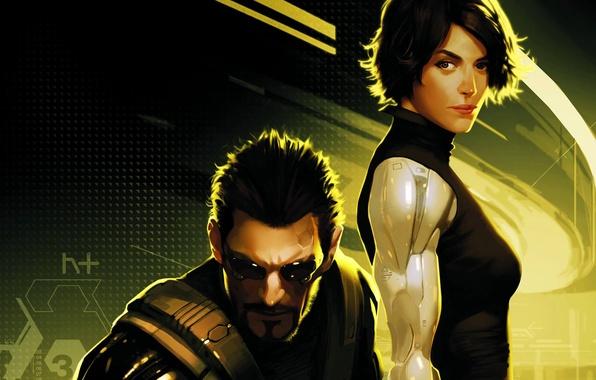 Картинка art, Deus Ex: Human Revolution, comics, Adam Jensen, Katrina Sutherland