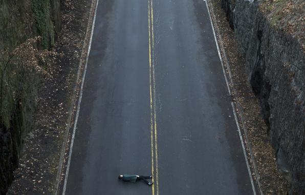 Картинка дорога, человек, ситуация