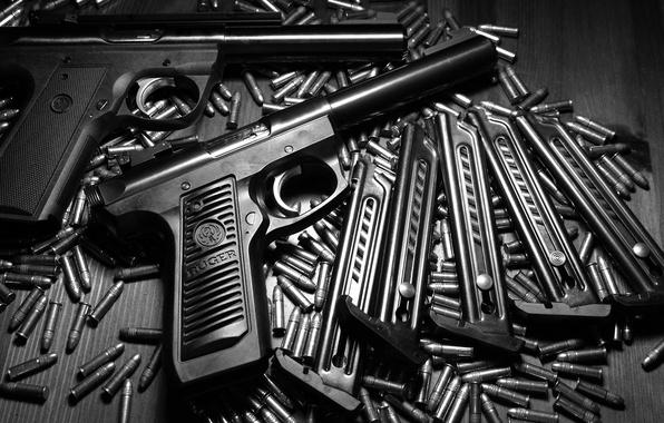 Картинка оружие, ствол, пули, Ruger