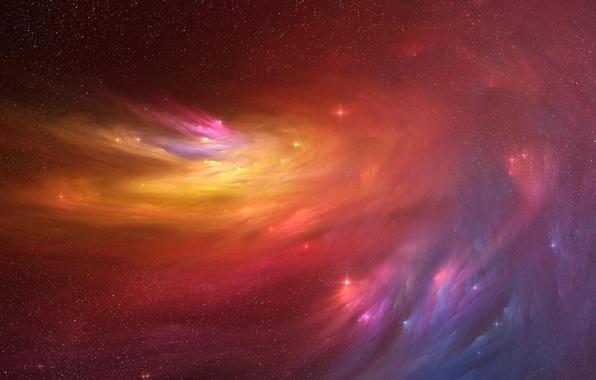 Картинка космос, звезды, свет, туманность