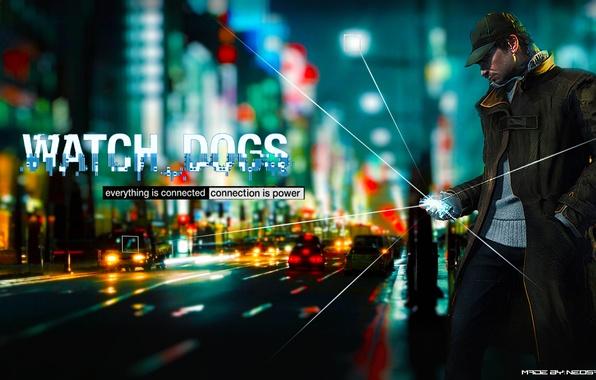 Картинка пистолет, дождь, игра, мужик, маска, парень, game, 2012, Watch Dogs, Aiden Pierce, Сторожевые псы, Эйден …