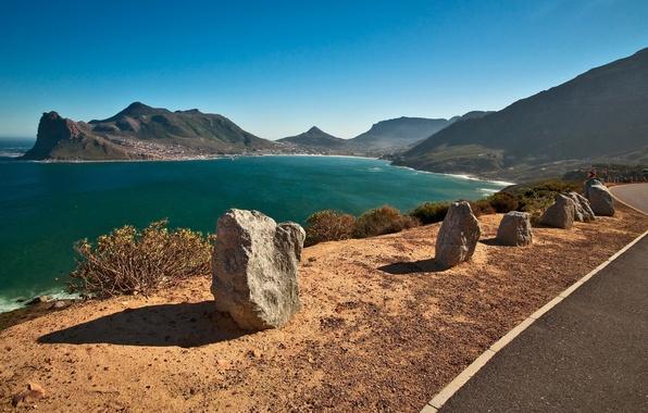 Картинка дорога, море, пейзаж, горы