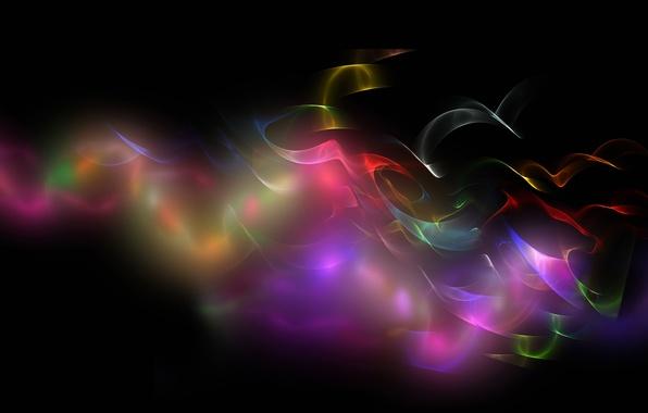 Картинка лучи, свет, фон, краски, дым, газ