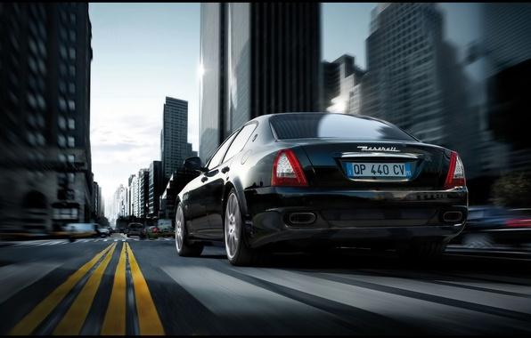 Картинка дорога, Maserati, Quattroporte Sport GT S