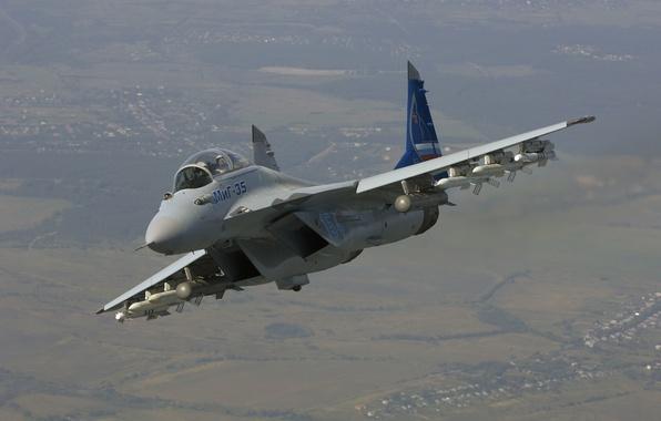 Картинка полет, истребитель, ракеты, Россия, многоцелевой, MiG-35, МиГ-35, поколения «4++»