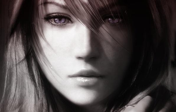 Картинка молния, арт, красавица, последняя фантазия, final fantasy xiii, лайтнинг, файнал фентези, Lightning Farron