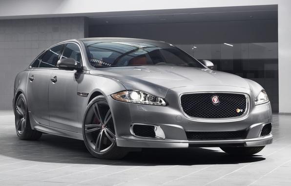 Картинка Jaguar, Ягуар, седан, передок, XJR