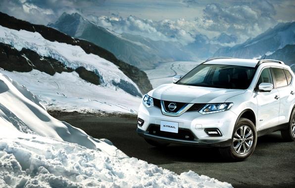 Картинка Nissan, ниссан, Hybrid, X-Trail, JP-spec, T32, 2015, х-трейл
