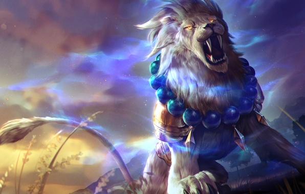 Картинка лев, art, Heroes of Newerth, moba, Gemini, Lion of Sol