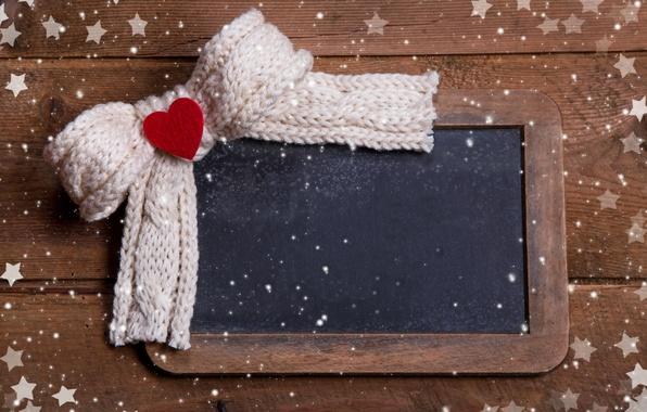 Картинка зима, снег, любовь, праздник, сердце, шарф, Рождество, Новый год, love, I love you, heart, winter, …