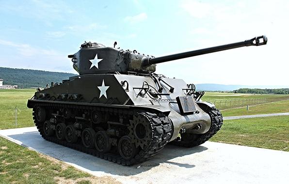 Картинка войны, памятник, танк, средний, Sherman, периода, мировой, Второй, «Шерман»