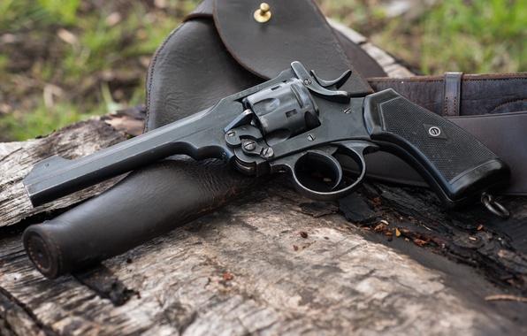 Картинка оружие, кобура, 1918, Револьвер, Webley