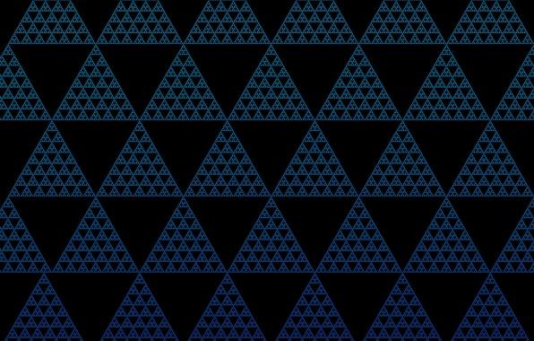 Картинка частицы, треугольники, иллюзия, трифорс