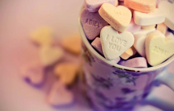 Картинка любовь, настроение, сердце, еда, love, i love you, cup, hearts