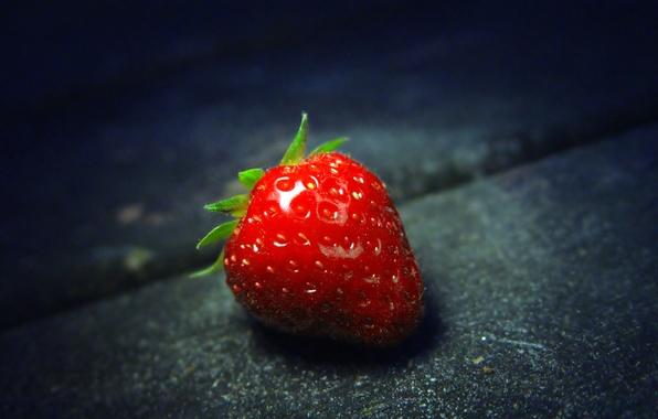 Фото обои макро, еда, клубника, ягода, strawberry