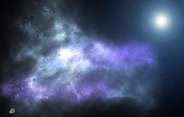 Картинка космос, звезды, свет, туманность, вселенная
