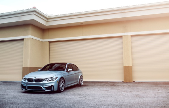 Картинка BMW, Car, Front, Sport, Silver, F80