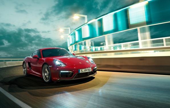Картинка Porsche, Cayman, порше, GTS, 2015, кайман