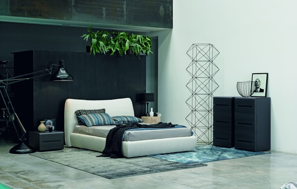 Картинка дизайн, интерьер, design, спальня, modern, bed, модерн, bedroom
