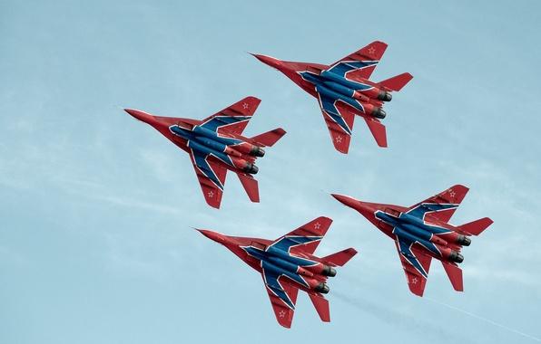 Картинка истребители, МиГ-29, Стрижи