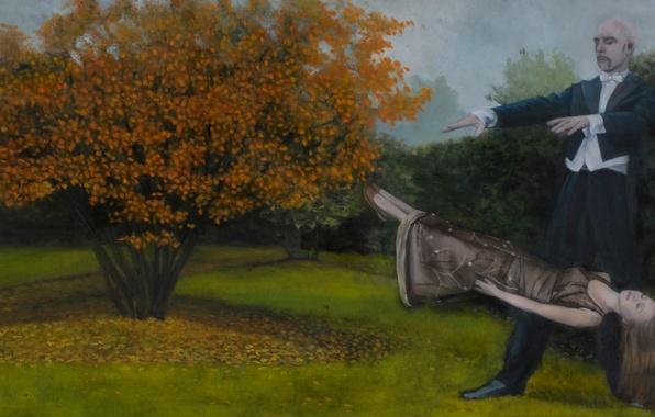 Картинка картина, норвежский художник, Christer Karlstad, Levitation, Autumn for Europe- 6