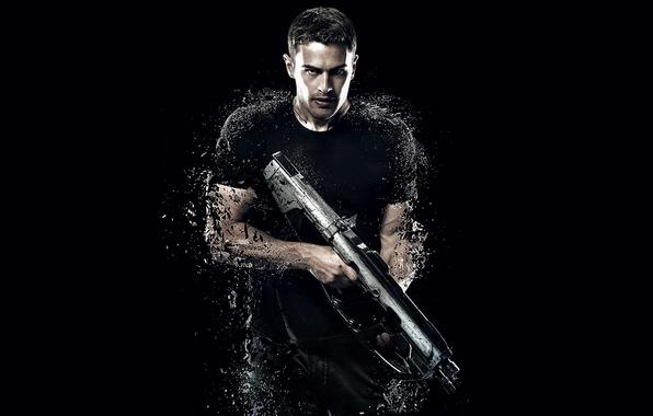 Картинка cinema, gun, soldier, actor, weapon, movie, shotgun, film, pose, warrior, strong, muscular, Four, 2015, Theo …