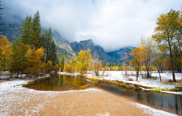 Картинка осень, пейзаж, горы, природа, река