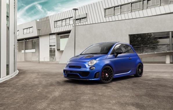 Картинка 500, Fiat, фиат, Abarth, 2015, Pogea Racing, Blue Wonder