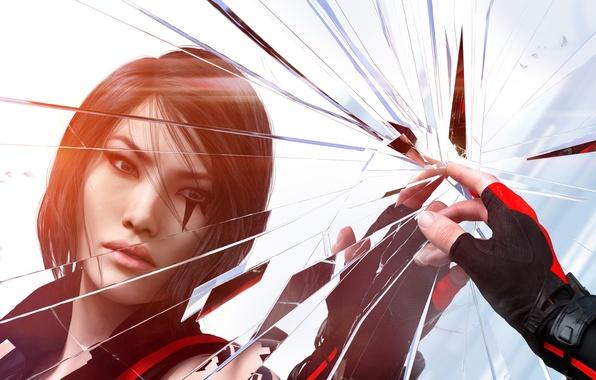 Картинка Девушка, Рука, Electronic Arts, DICE, Отражения, Faith, Фейт, EA DICE, Catalyst, Mirrors Edge: Catalyst