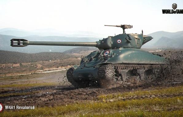 Картинка Франция, танк, танки, France, WoT, Мир танков, tank, World of Tanks, tanks, Wargaming.Net, BigWorld, M4A1 …