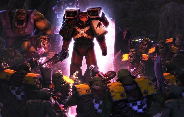 Картинка warhammer 40000, armor, space marine, Warhammer 40K, orks, imperium of man, WH40K