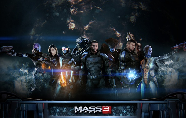 Картинка игры, фантастика, mass effect, shepard, games, sci-fi, mass effect 3, шепард, extended cut, эпик
