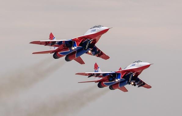 Картинка истребители, пара, MiG-29, МиГ-29