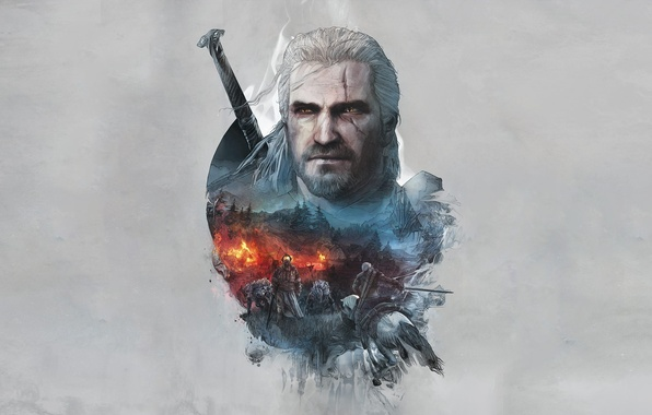Картинка Ведьмак, The Witcher, Геральт, CD Projekt RED, The Witcher 3: Wild Hunt, Geralt, Ведьмак 3: ...
