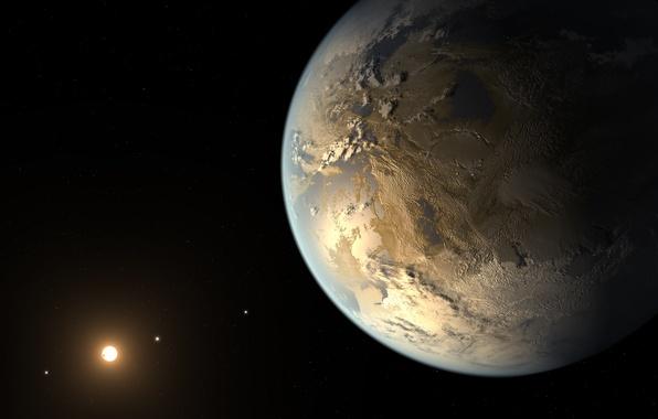 Картинка солнце, планеты, Земля, снимок, Кеплер
