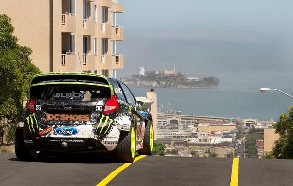 Картинка Ford, Авто, Город, Спорт, Машина, Форд, Ken Block, Rally, Fiesta, rallycross