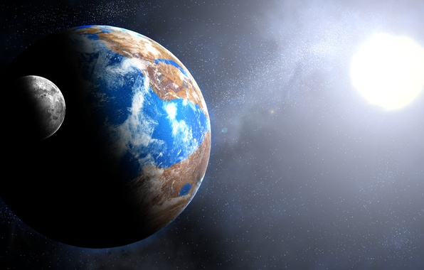 Картинка light, Star, blue, planet, Sci FI