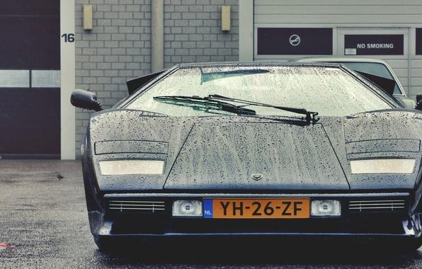 Картинка капли, красота, классика, Lamborghini Countach
