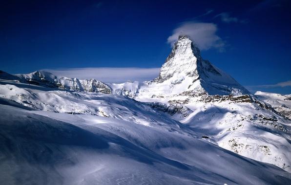 Картинка снег, горы, Швейцария