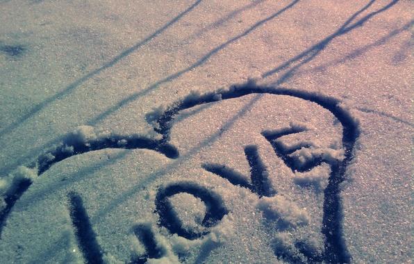 Картинка снег, сердце, Любовь