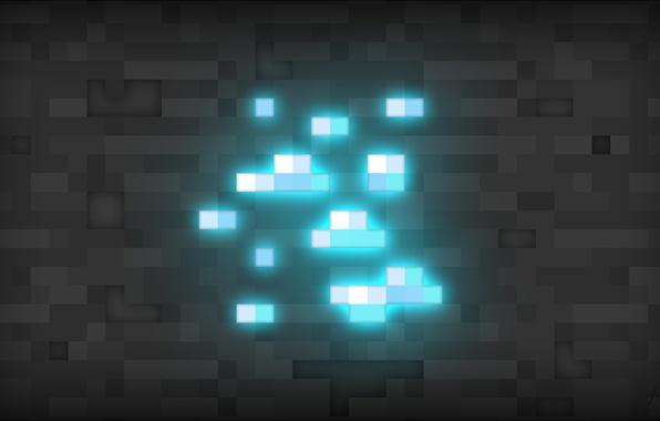 Картинка minecraft, diamond, майнкрафт, алмазы