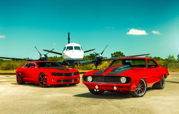 Картинка Chevrolet, 1969, Camaro, Red, Miami, 2011, Tuning, Heat, SS Customs