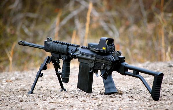 Картинка оружие, гравий, штурмовая винтовка, FN FAL