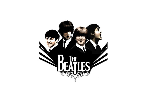 Картинка музыка, The Beatles, Rock, Битлз, Beatles, Легенда, великие, Джордж Харрисон, Джон Леннон, четверка, Пол Маккартни, …