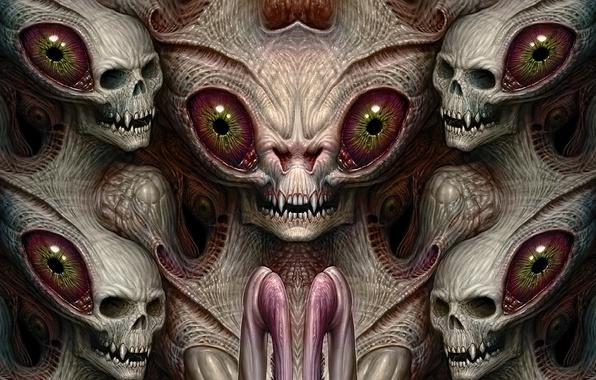 Картинка eyes, faces, heads, teeth, horrible creatures